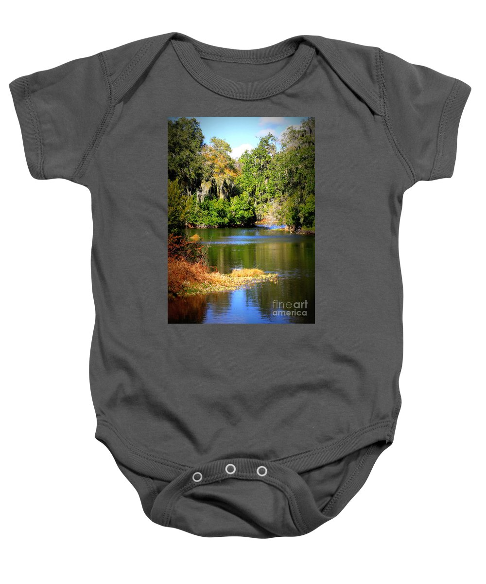Alafia River Baby Onesie featuring the photograph Alafia River by Carol Groenen