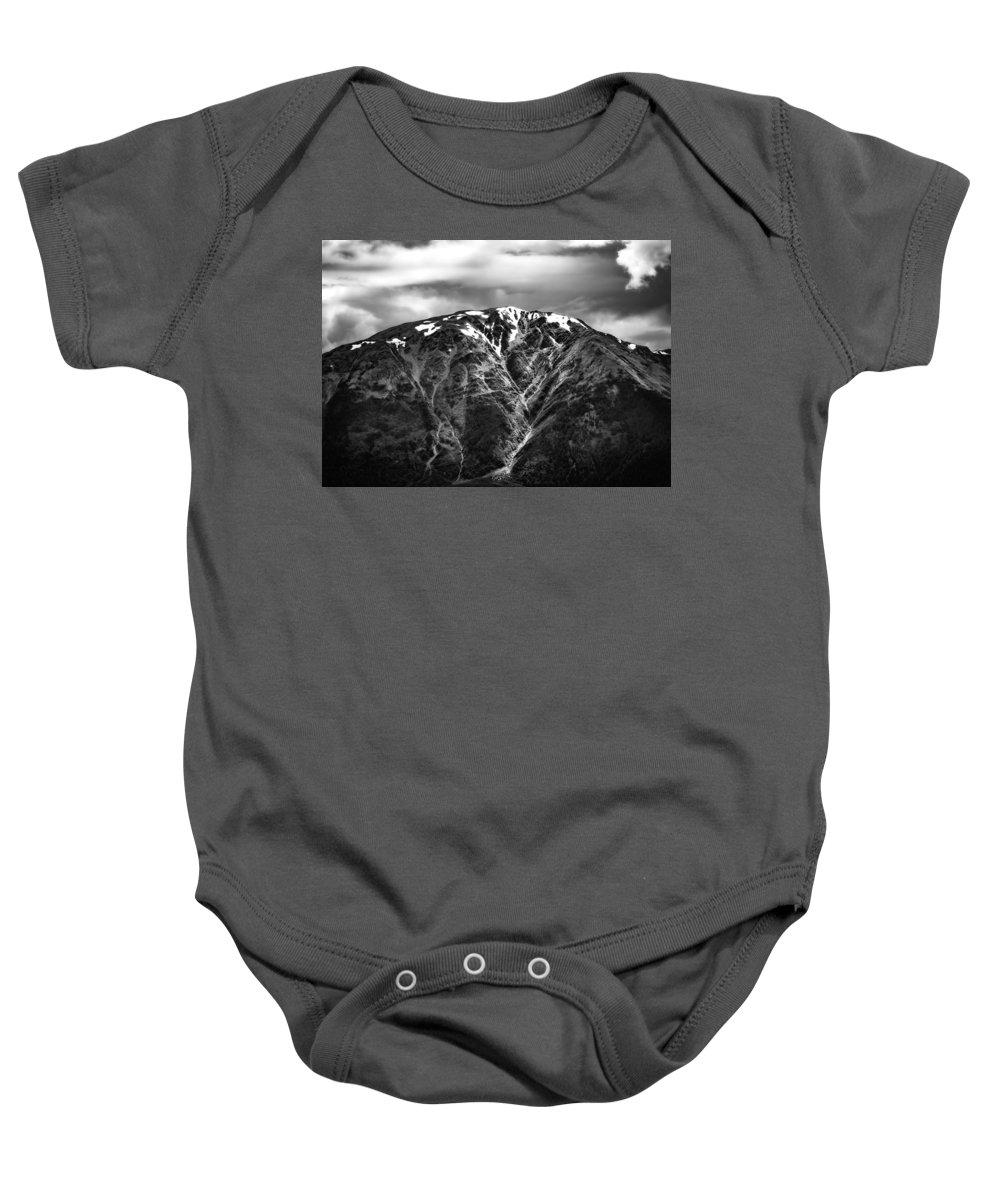 Alaska Baby Onesie featuring the photograph Alaska Mountain Range by Deon Grandon