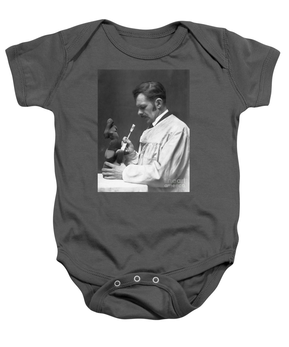 1920s Baby Onesie featuring the photograph Alexander Archipenko by Granger