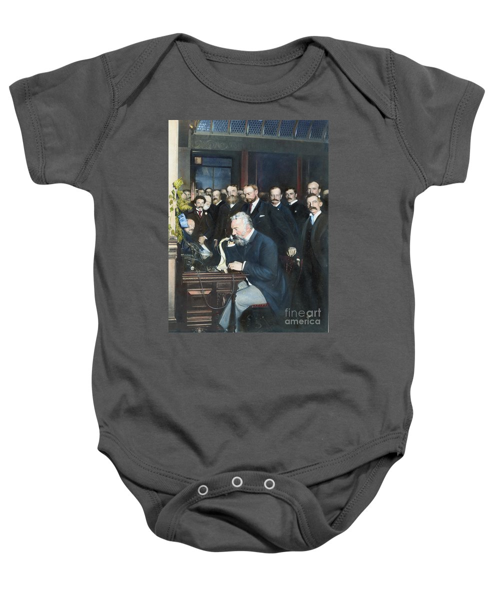 1892 Baby Onesie featuring the photograph Alexander Graham Bell by Granger