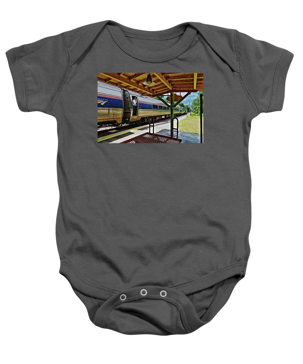 Landscape Baby Onesie featuring the photograph All Aboard by Roger Epps