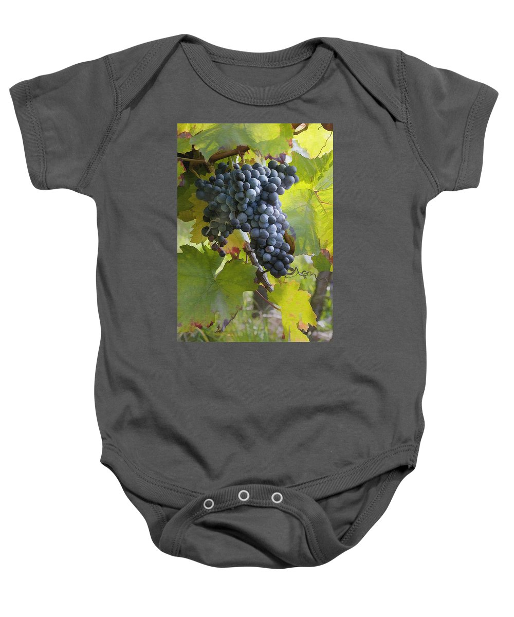Grape Baby Onesie featuring the photograph All Aglow by Sharon Foster
