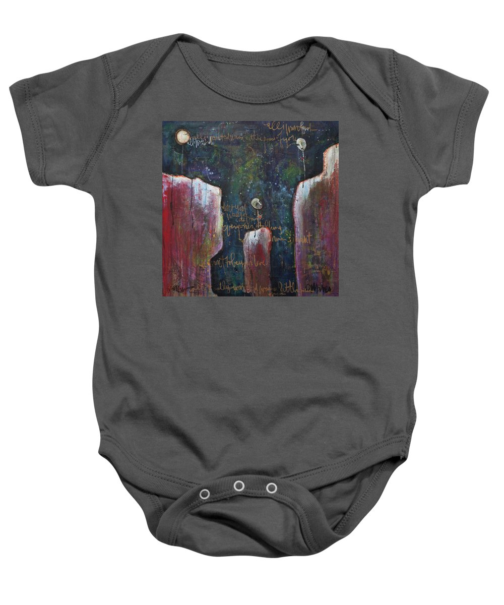 Lollipop Art Baby Onesie featuring the painting All I Wanted by Laurie Maves ART
