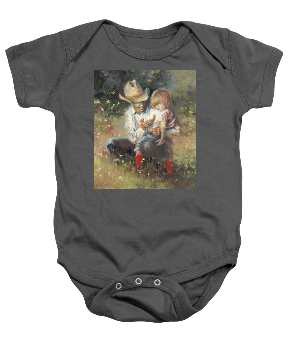 Children Baby Onesie featuring the painting All Of Life's Little Wonders by Mia DeLode