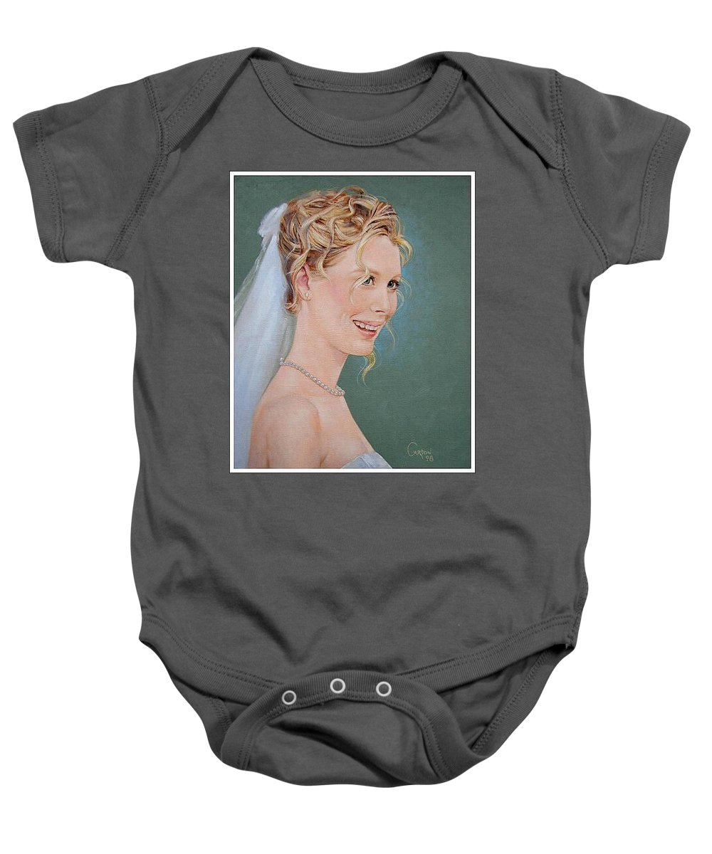 Wedding Baby Onesie featuring the painting Allison by Jerrold Carton