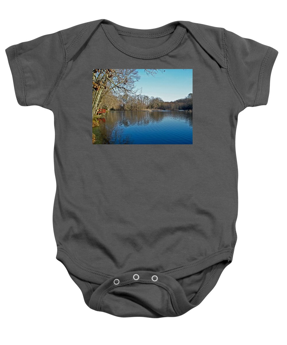 alloway Lake Baby Onesie featuring the photograph Alloway Lake - New Jersey - Usa by Mother Nature