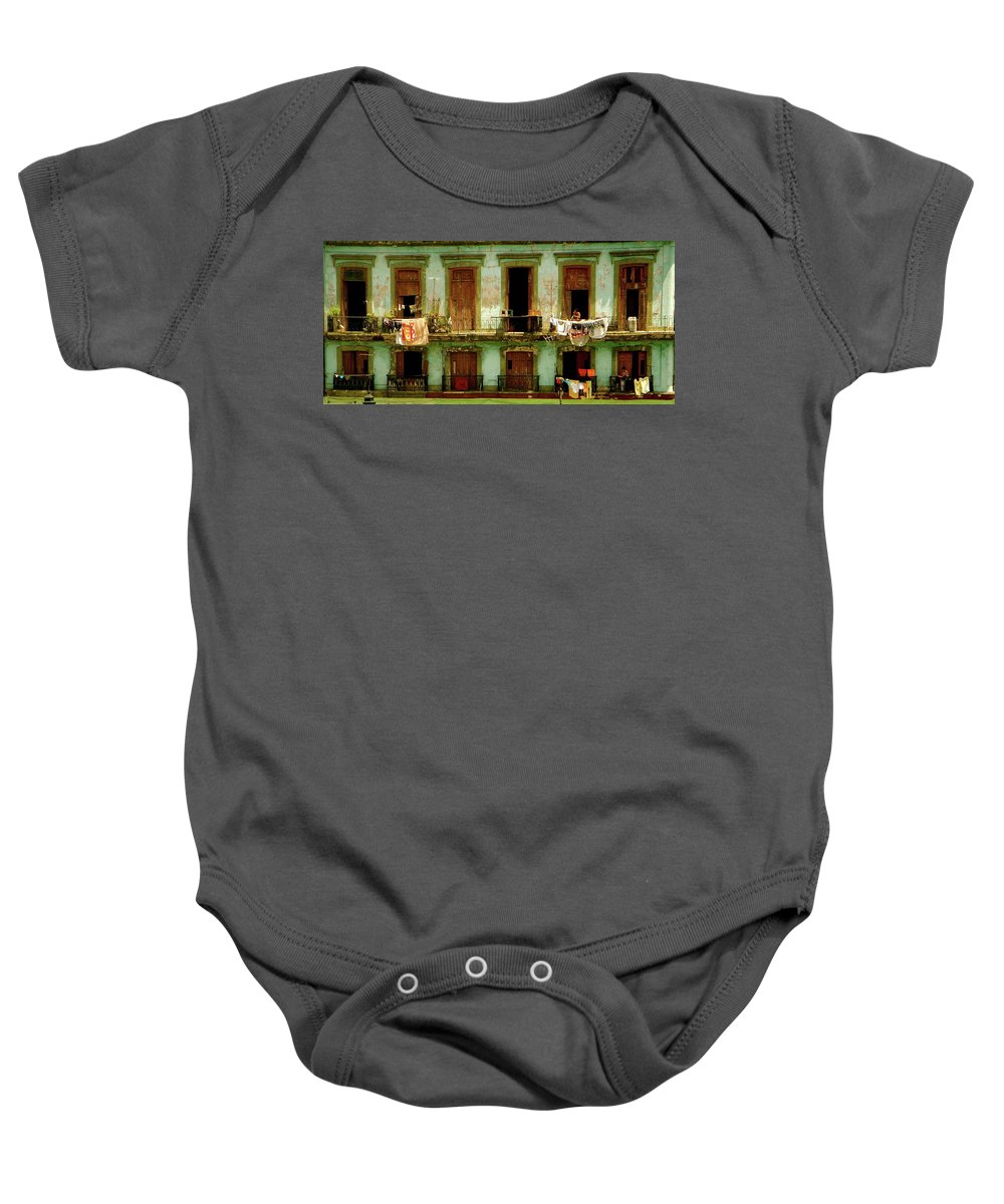 Architecture Baby Onesie featuring the photograph Almost Dry by Valerie Rosen