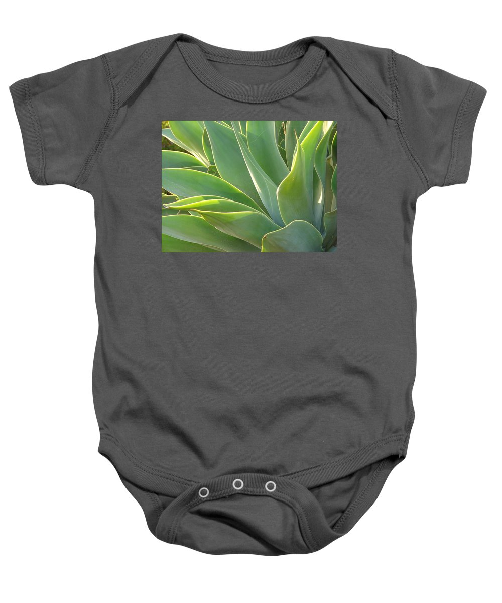 Abstract Art Baby Onesie featuring the photograph Aloe by Lois Boyce