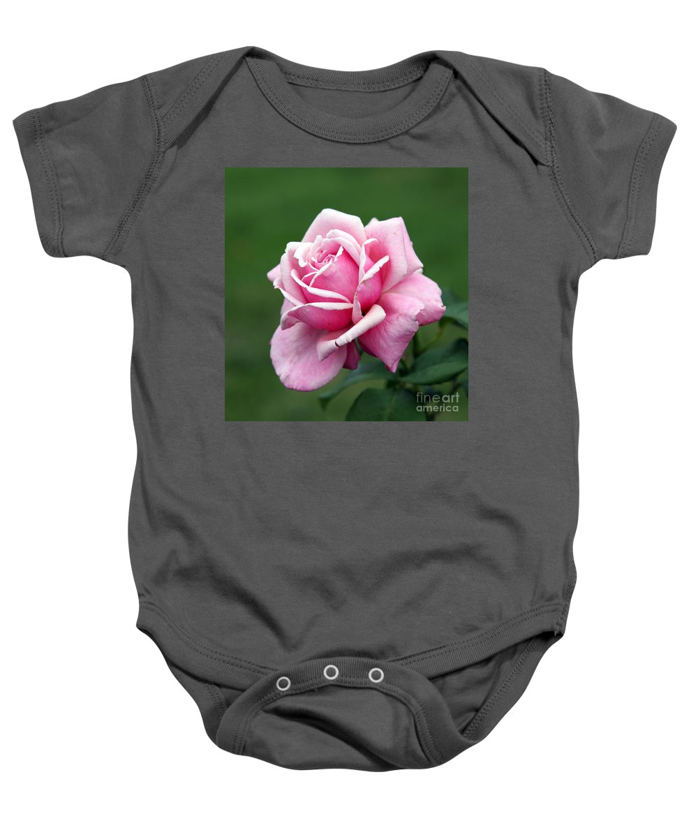Rose Baby Onesie featuring the photograph Alone Time by Amanda Barcon