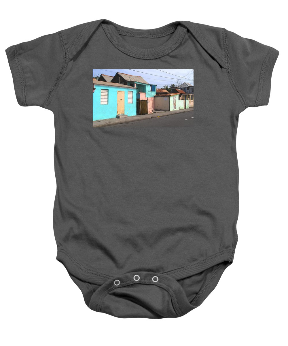 St Kitts Baby Onesie featuring the photograph Along Bay Road by Ian MacDonald
