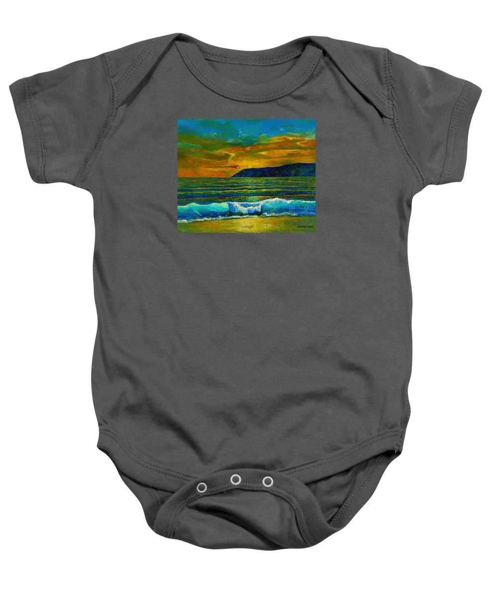 Seascape Baby Onesie featuring the painting Along The African Coast by Michael Durst