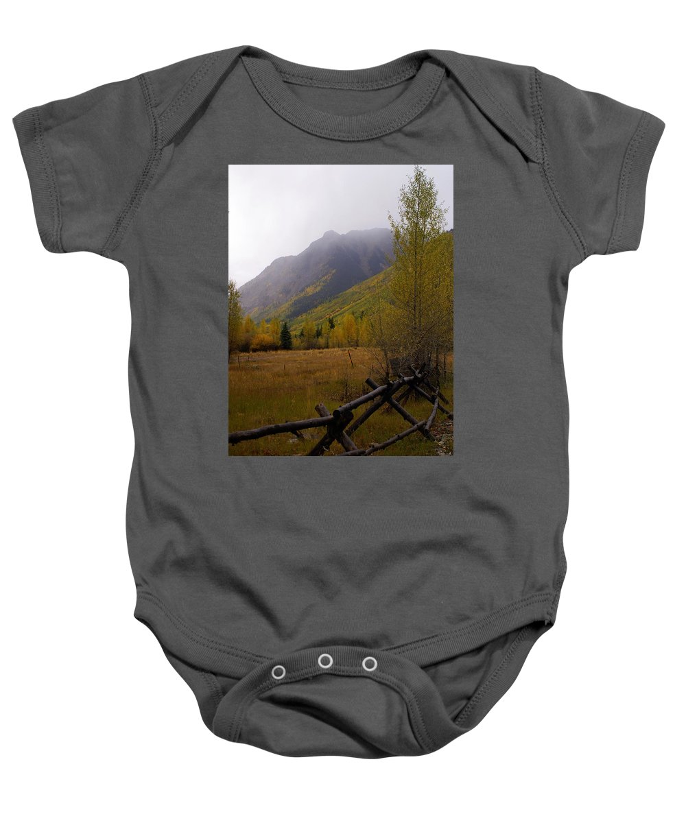 Colorado Baby Onesie featuring the photograph Along The Alpine Loop by Marty Koch
