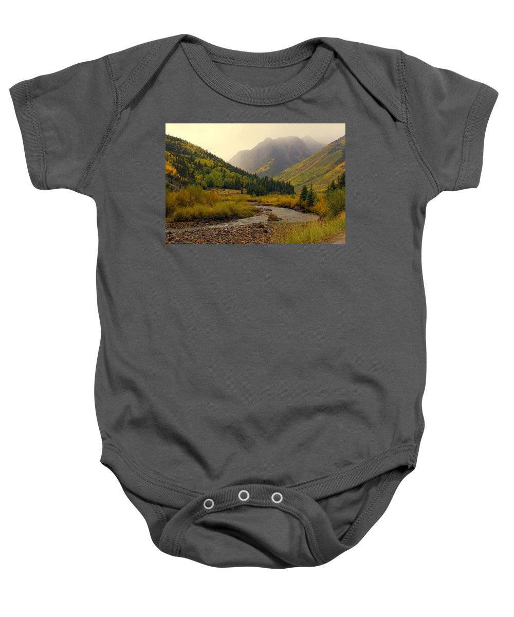 Colorado Baby Onesie featuring the photograph Alpine Loop Fall by Marty Koch