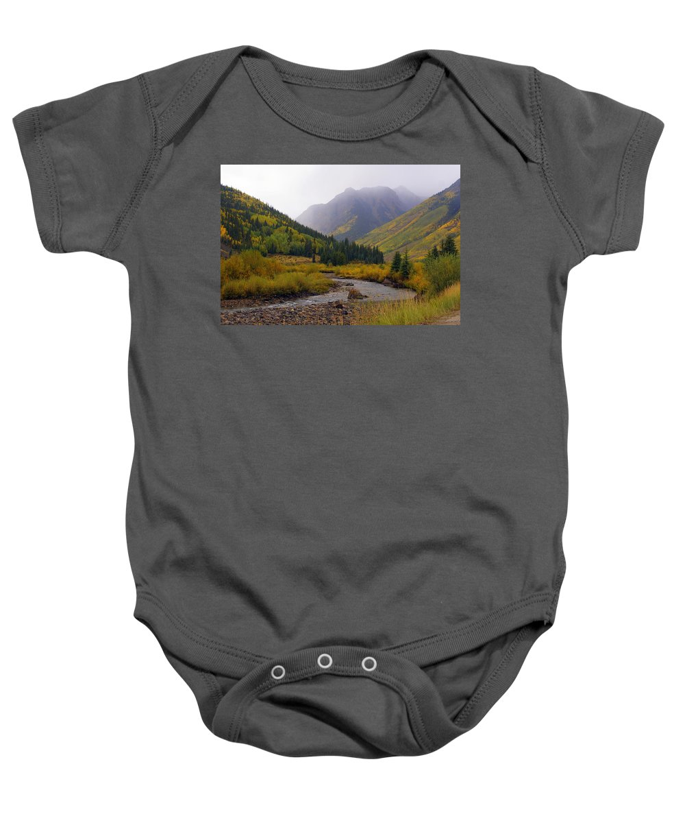 Colorado Baby Onesie featuring the photograph Alpine Loop Road by Marty Koch