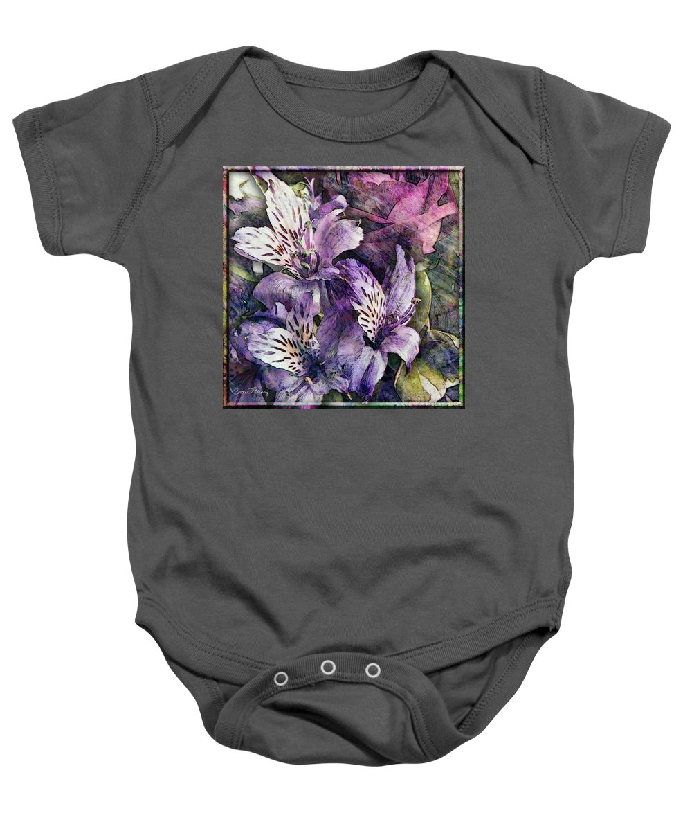 Flowers Baby Onesie featuring the digital art Alstroemeria by Barbara Berney