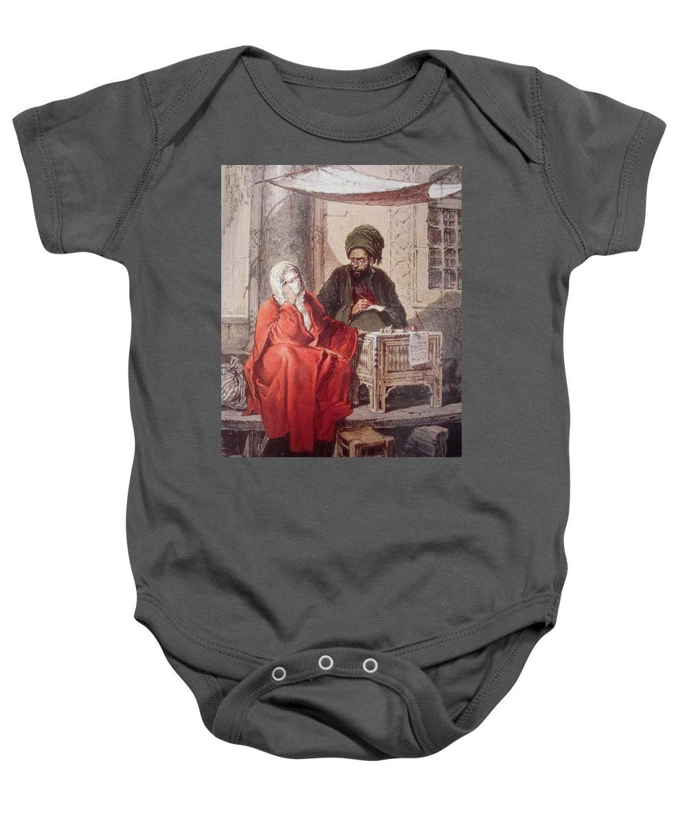 Amedeo Preziosi Writer Baby Onesie featuring the painting Amedeo Preziosi by Eastern Accents