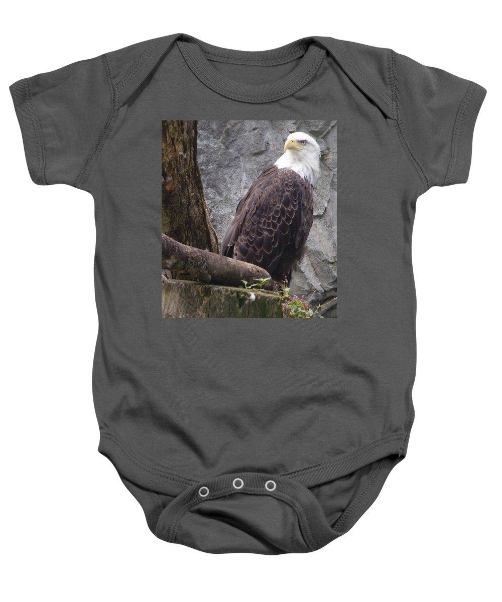 Eagle Baby Onesie featuring the photograph American Bald Eagle by Steven Natanson
