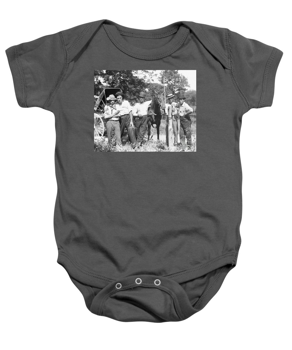 1900 Baby Onesie featuring the photograph American Gang, C1900 by Granger