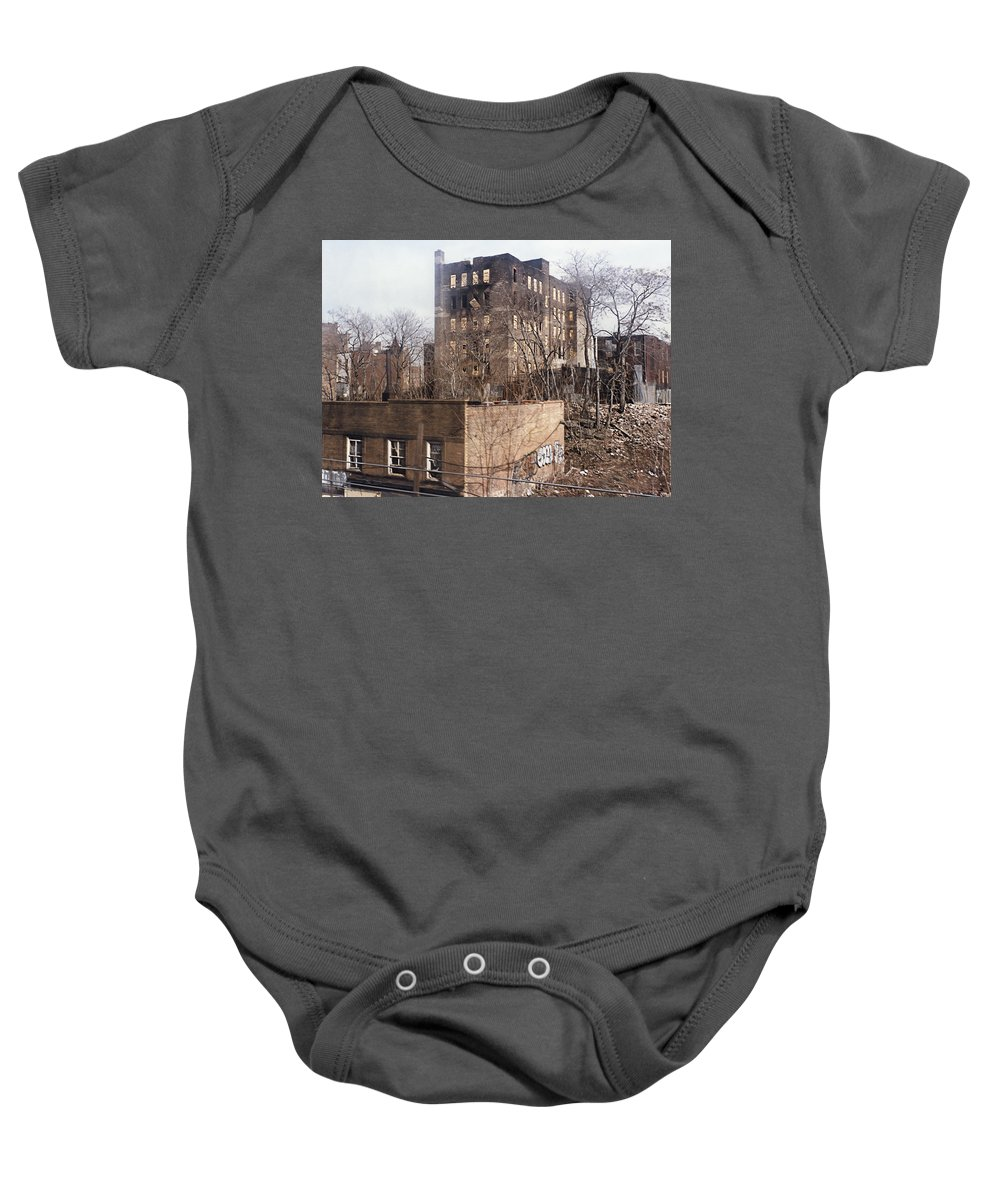 Bronx Baby Onesie featuring the photograph American Ghetto - The South Bronx In New York City by Daniel Hagerman