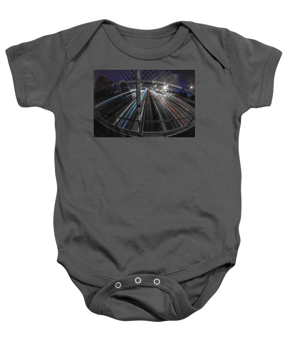Baby Onesie featuring the photograph American Highway by Kyle Field