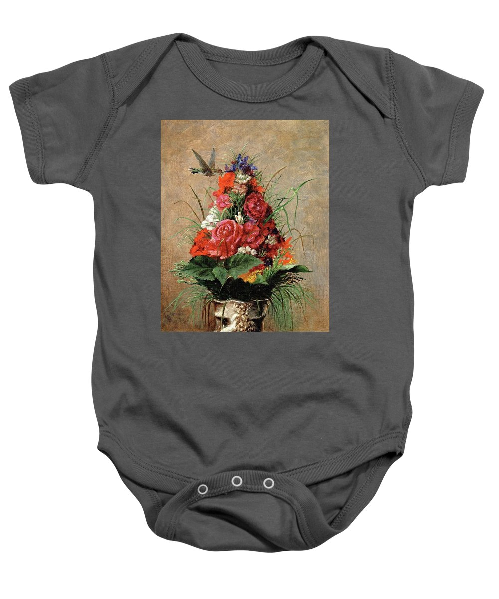 William Merritt Chase [american Impressionist Painter Baby Onesie featuring the painting American Impressionist Painter by William Merritt