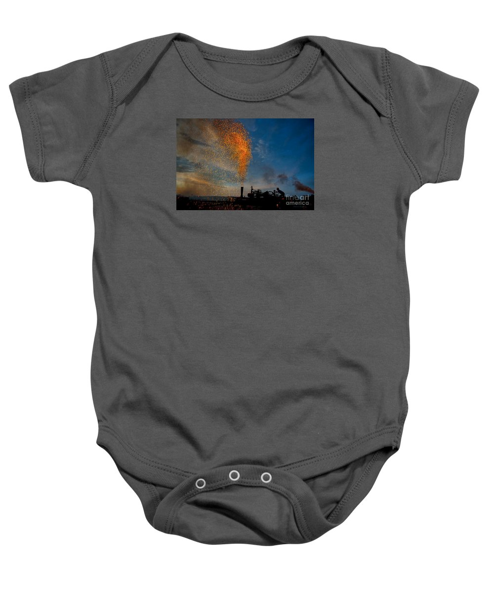 Amish Baby Onesie featuring the photograph Amish Fireworks by David Arment