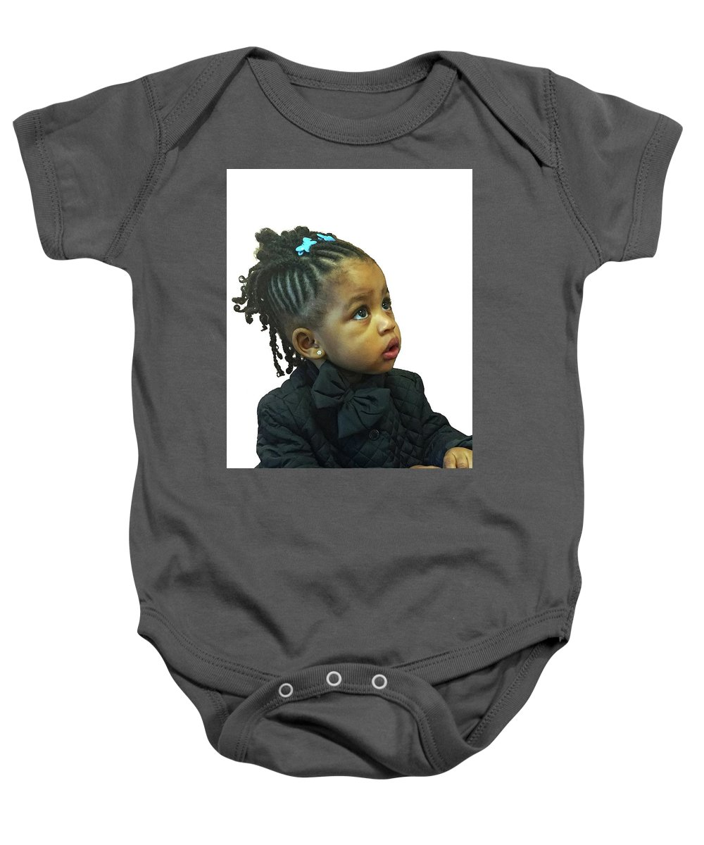 Baby Onesie featuring the photograph Amy's Niece by Cheryl Kurman