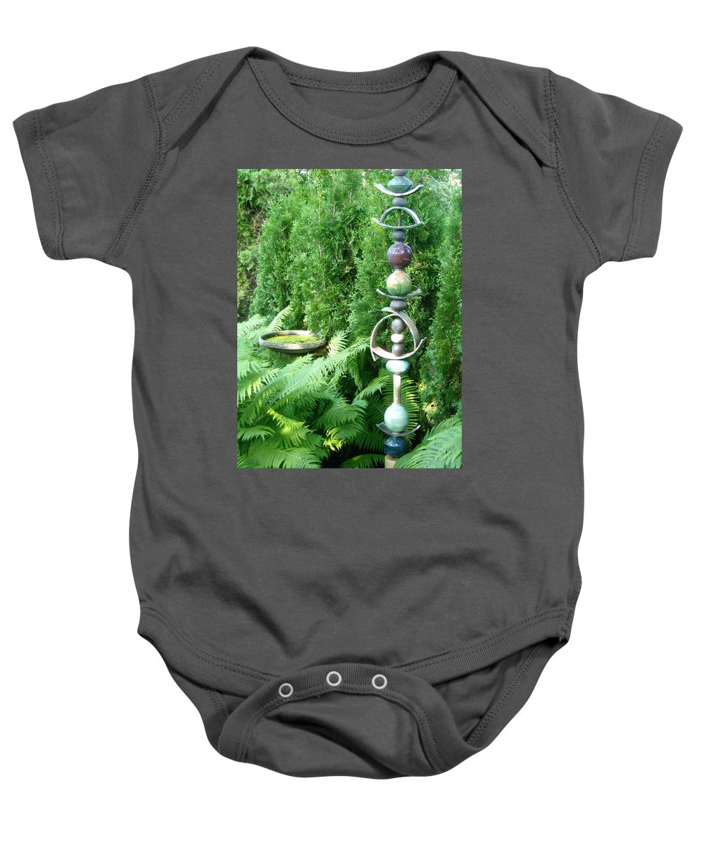 Sculpture Baby Onesie featuring the photograph And Sculpture Garden by Line Gagne