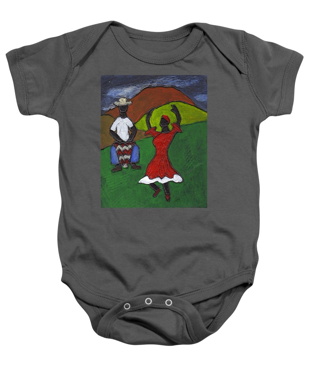 Dance Baby Onesie featuring the painting and Then She began to Dance by Wayne Potrafka