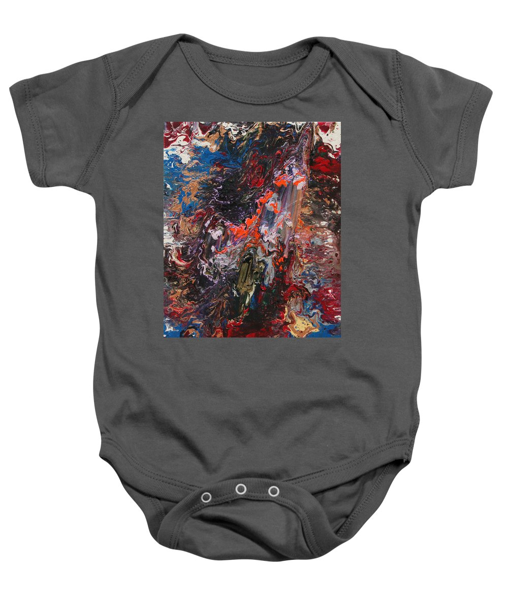 Fusionart Baby Onesie featuring the painting Angel Rising by Ralph White