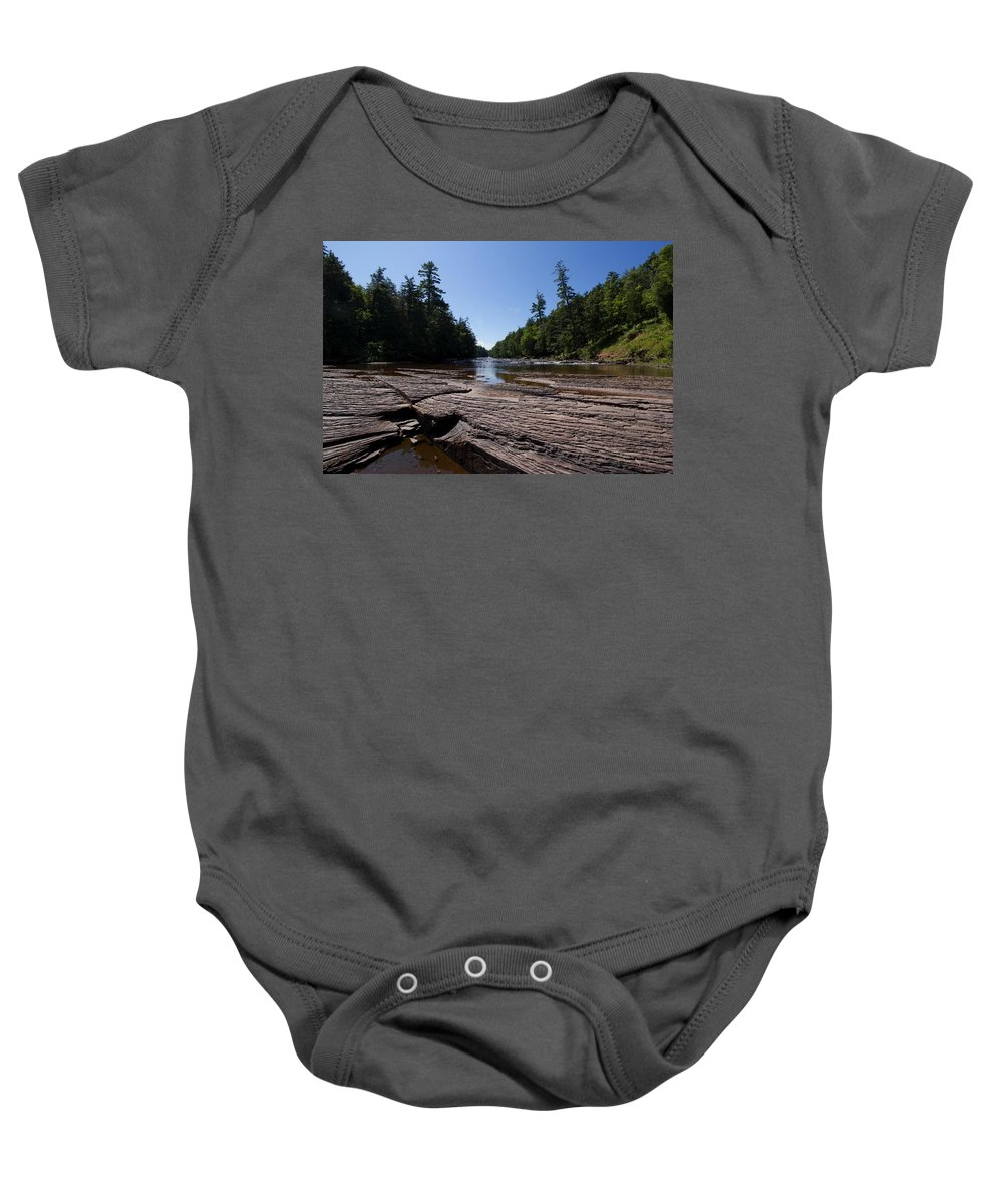 Waterfall Baby Onesie featuring the photograph Angles On The Isles by David Lyon