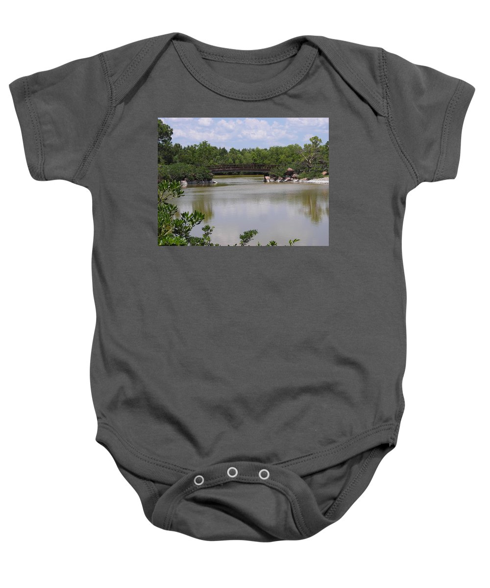 Tree Baby Onesie featuring the photograph Another Bridge At The Zen Garden by Stacey Marshall