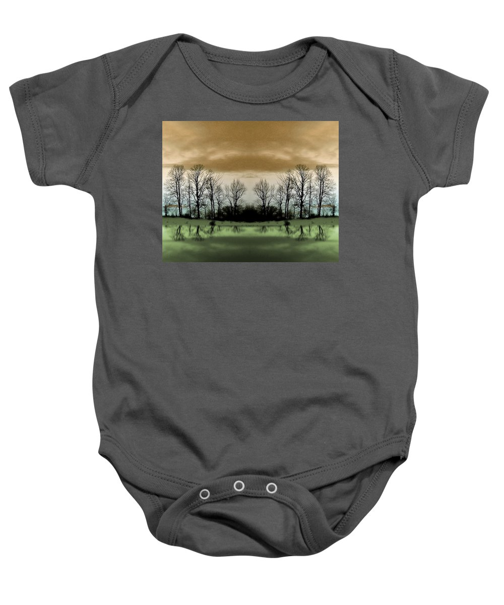 Green Baby Onesie featuring the photograph Another Planet by Munir Alawi