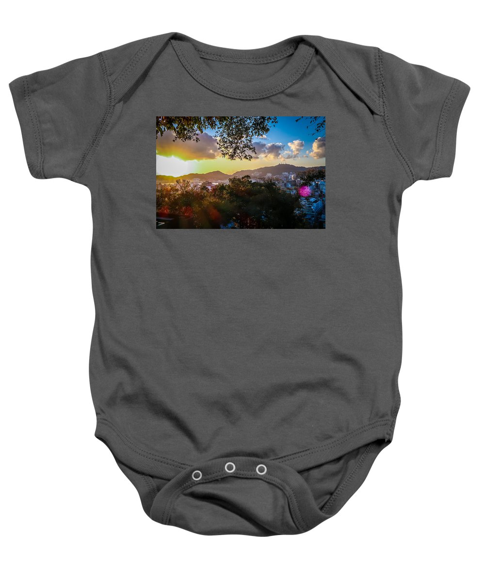 Sunset Baby Onesie featuring the photograph Another Time by Az