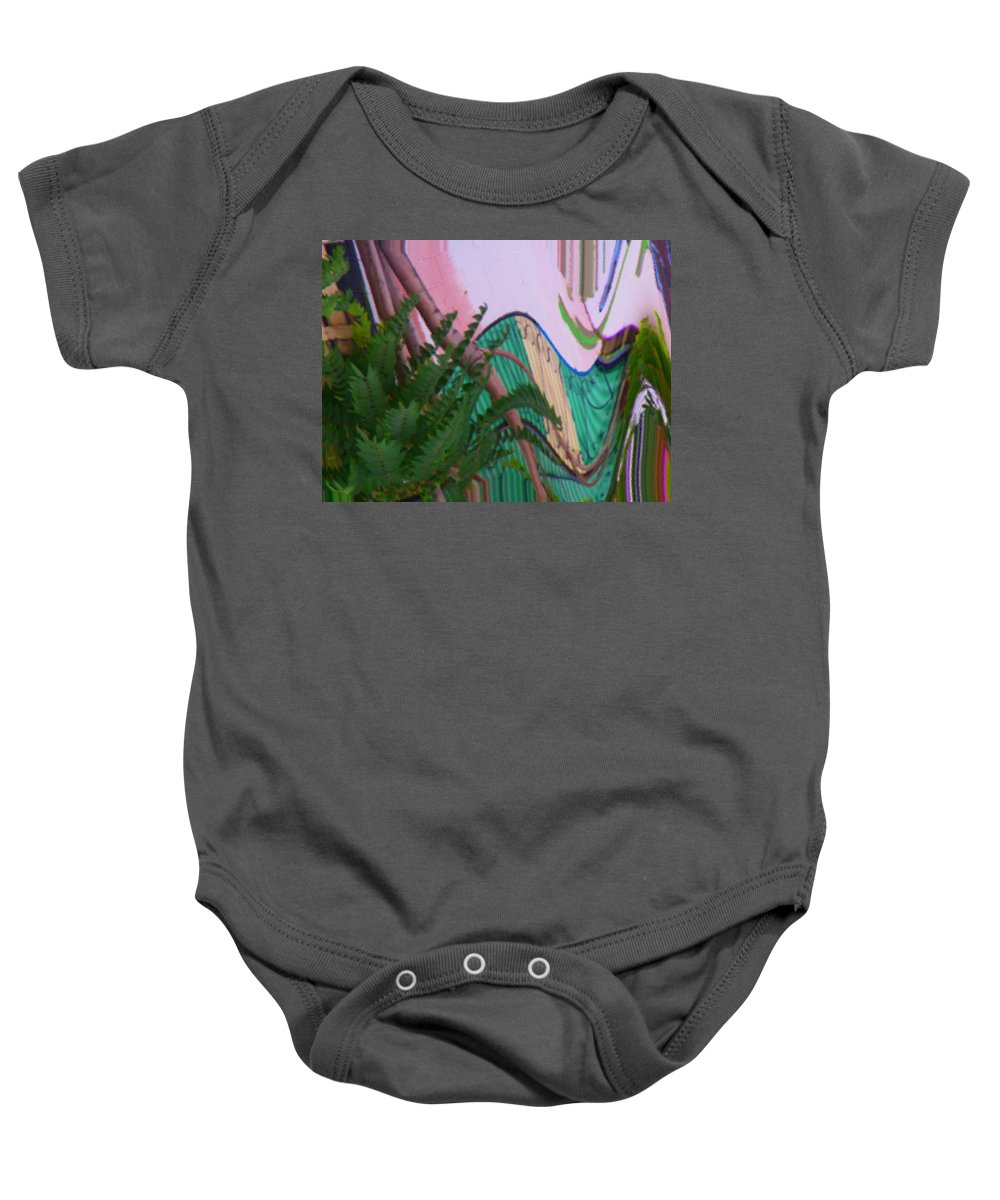 Abstract Baby Onesie featuring the digital art Another View by Lenore Senior