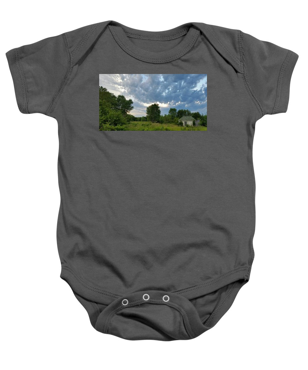 Landscape Baby Onesie featuring the photograph Any Shelter In A Storm by Caryl J Bohn