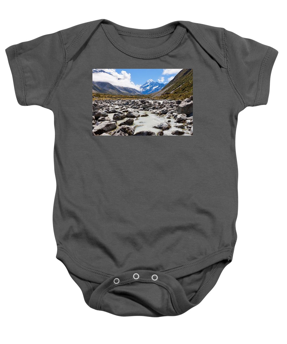 Mount Baby Onesie featuring the photograph Aoraki Mount Cook Hooker Valley Southern Alps Nz by Stephan Pietzko