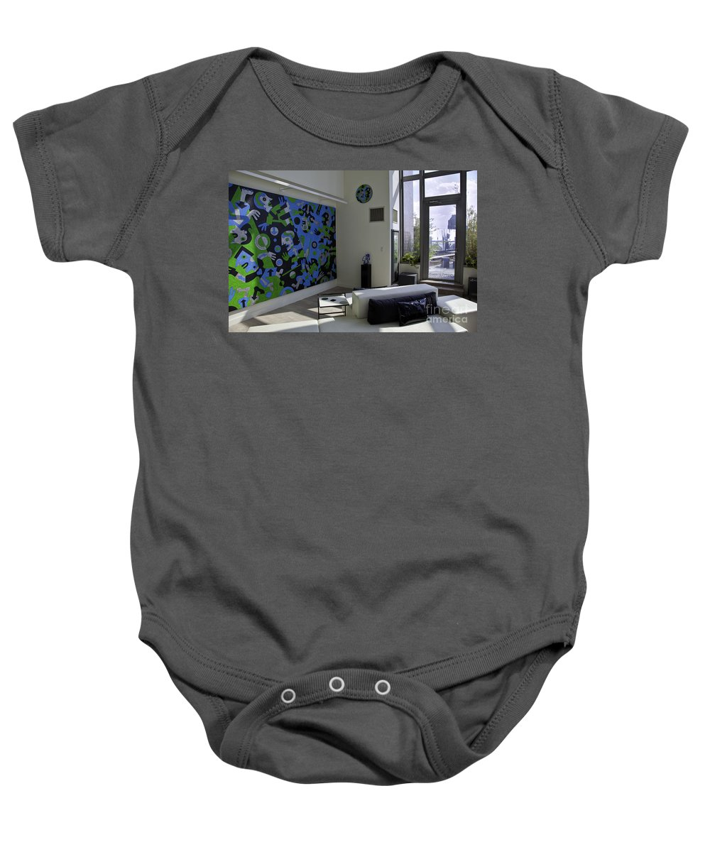 Apartment Baby Onesie featuring the photograph Apartment In Dumbo by Madeline Ellis