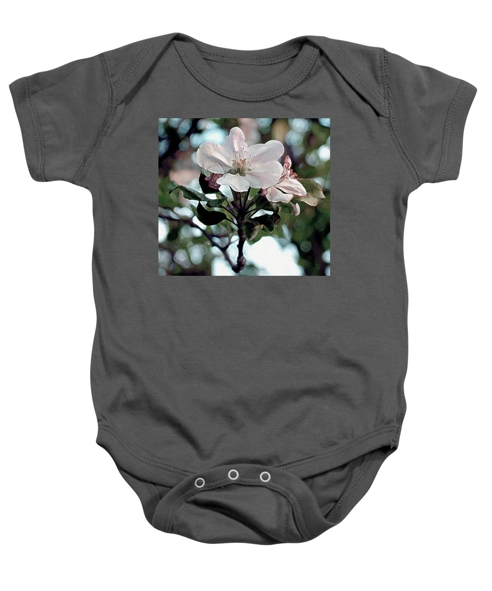 Blossom Baby Onesie featuring the painting Apple Blossom Time by RC deWinter