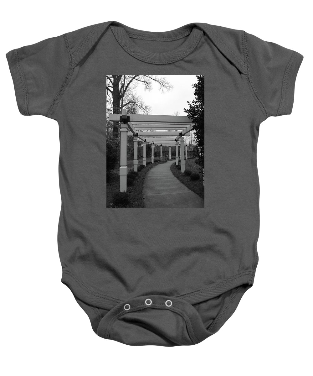 Arbor Baby Onesie featuring the photograph Arbor Walk by Sandi OReilly