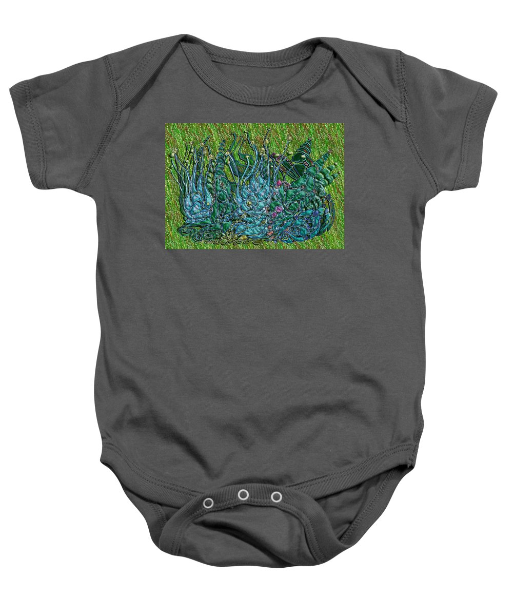 Digital Baby Onesie featuring the digital art Arboretum by Mark Sellers