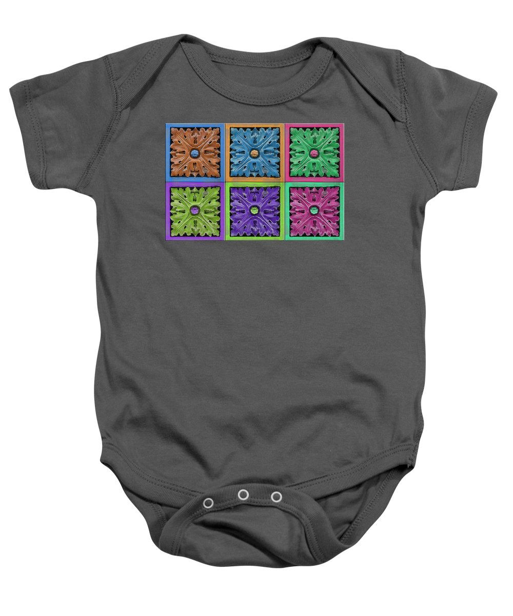 Abstract Baby Onesie featuring the digital art Architectural Beauty by John Haldane