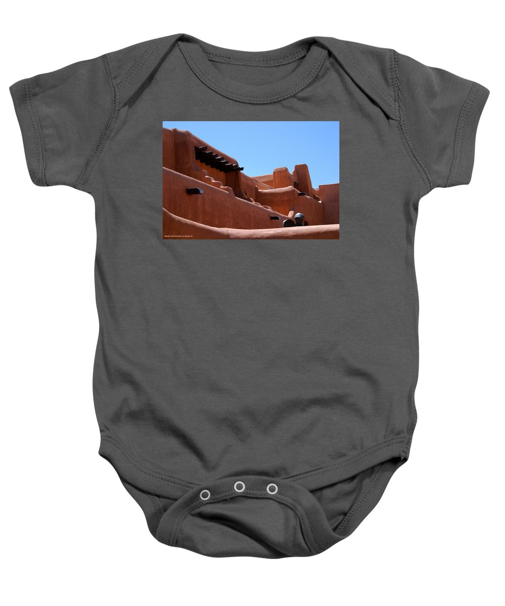 Photography Baby Onesie featuring the photograph Architecture In Santa Fe by Susanne Van Hulst
