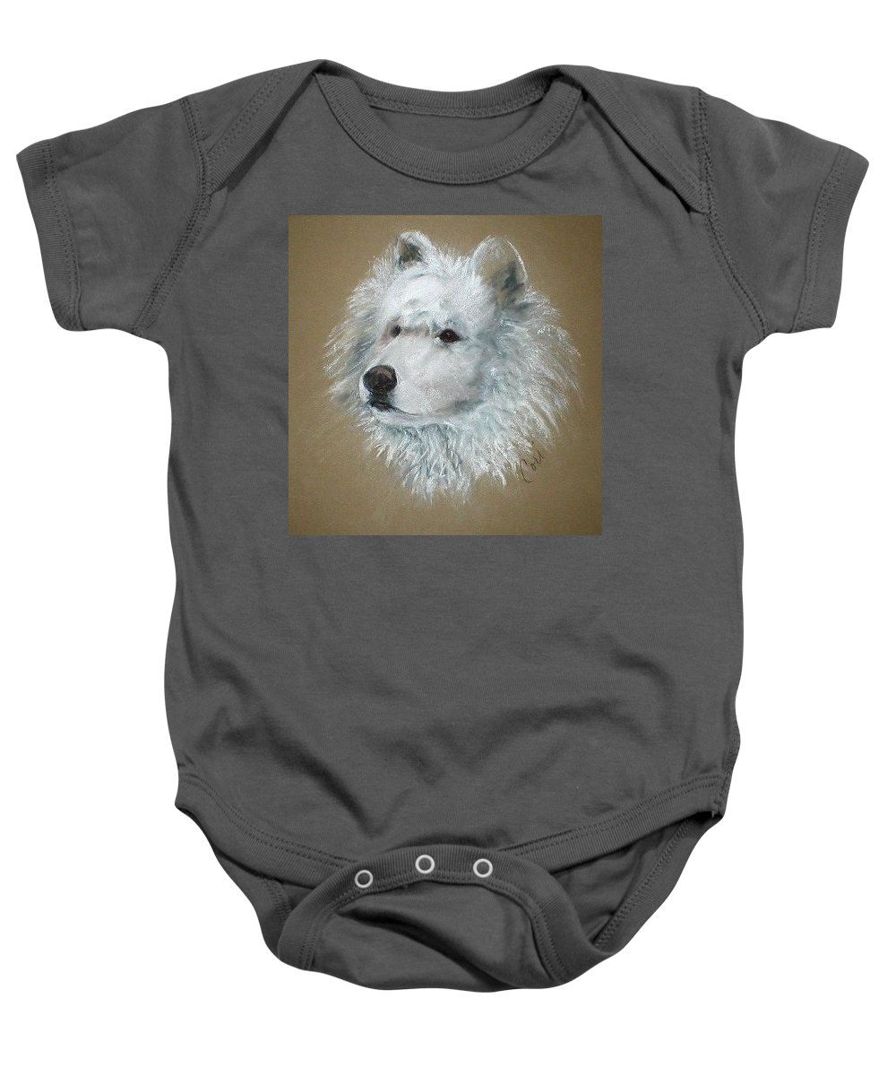 Pastel Baby Onesie featuring the drawing Arctic Majestry by Cori Solomon