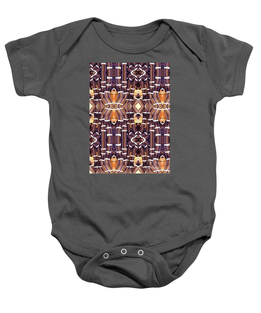 Abstract Baby Onesie featuring the digital art Arctic Pipe by Ron Bissett