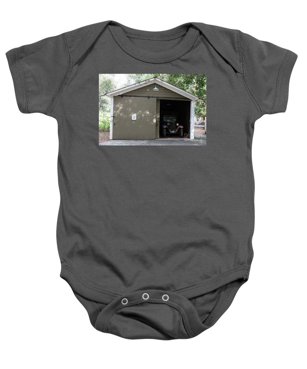 Ardenwood Historic Farm Baby Onesie featuring the photograph Ardenwood Historic Farm Garage by Jason O Watson