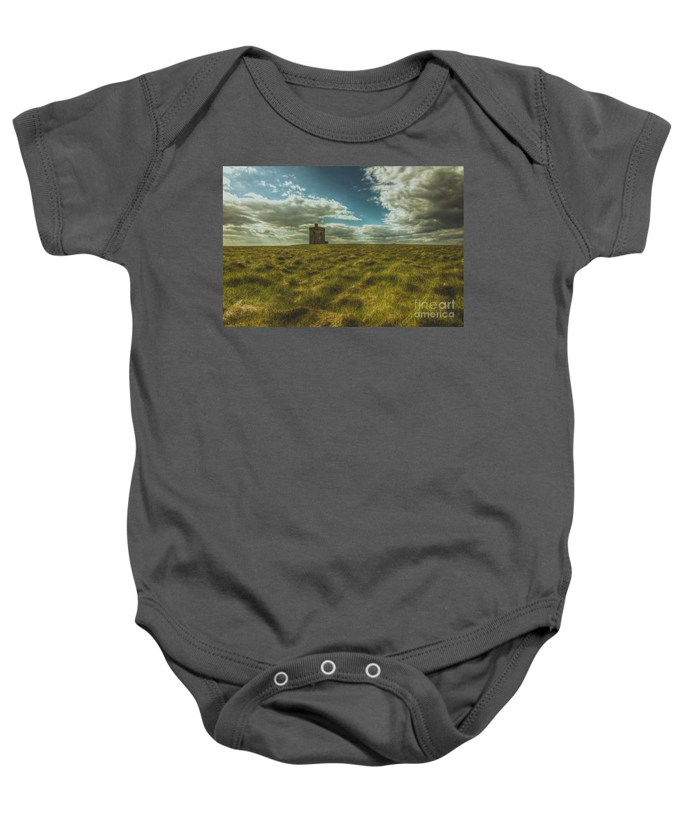 Ardmore Baby Onesie featuring the photograph Ardmore Lookout Tower by Marc Daly