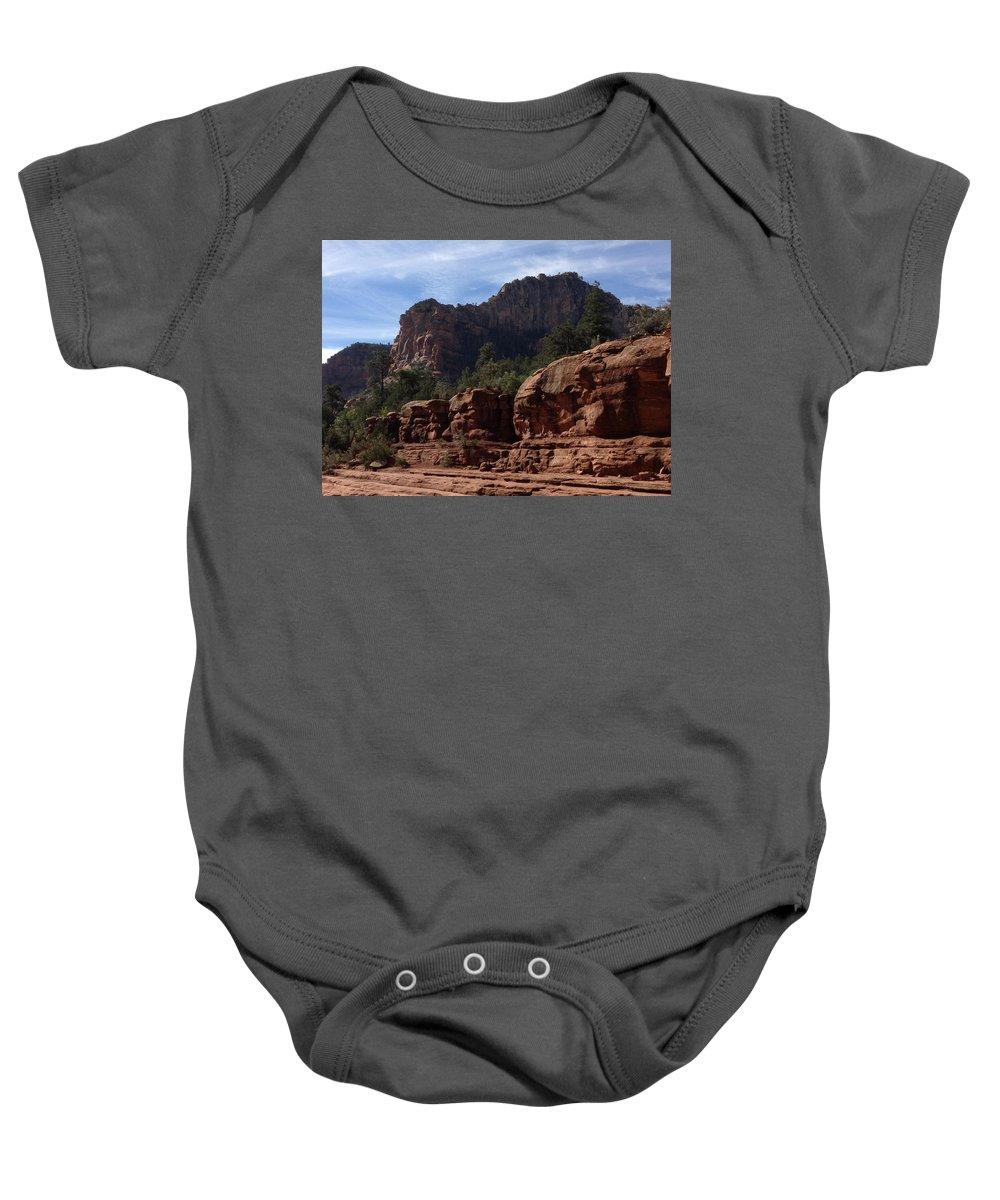 Arizona Baby Onesie featuring the photograph Arizona Canyon One by Christine Oleson