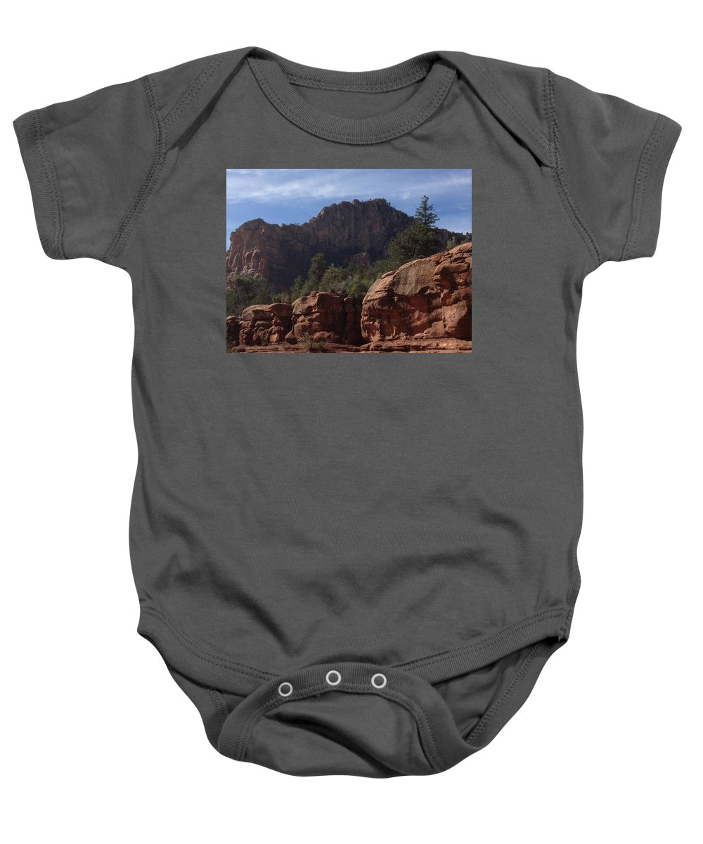 Arizona Baby Onesie featuring the photograph Arizona Red Rocks by Christine Oleson