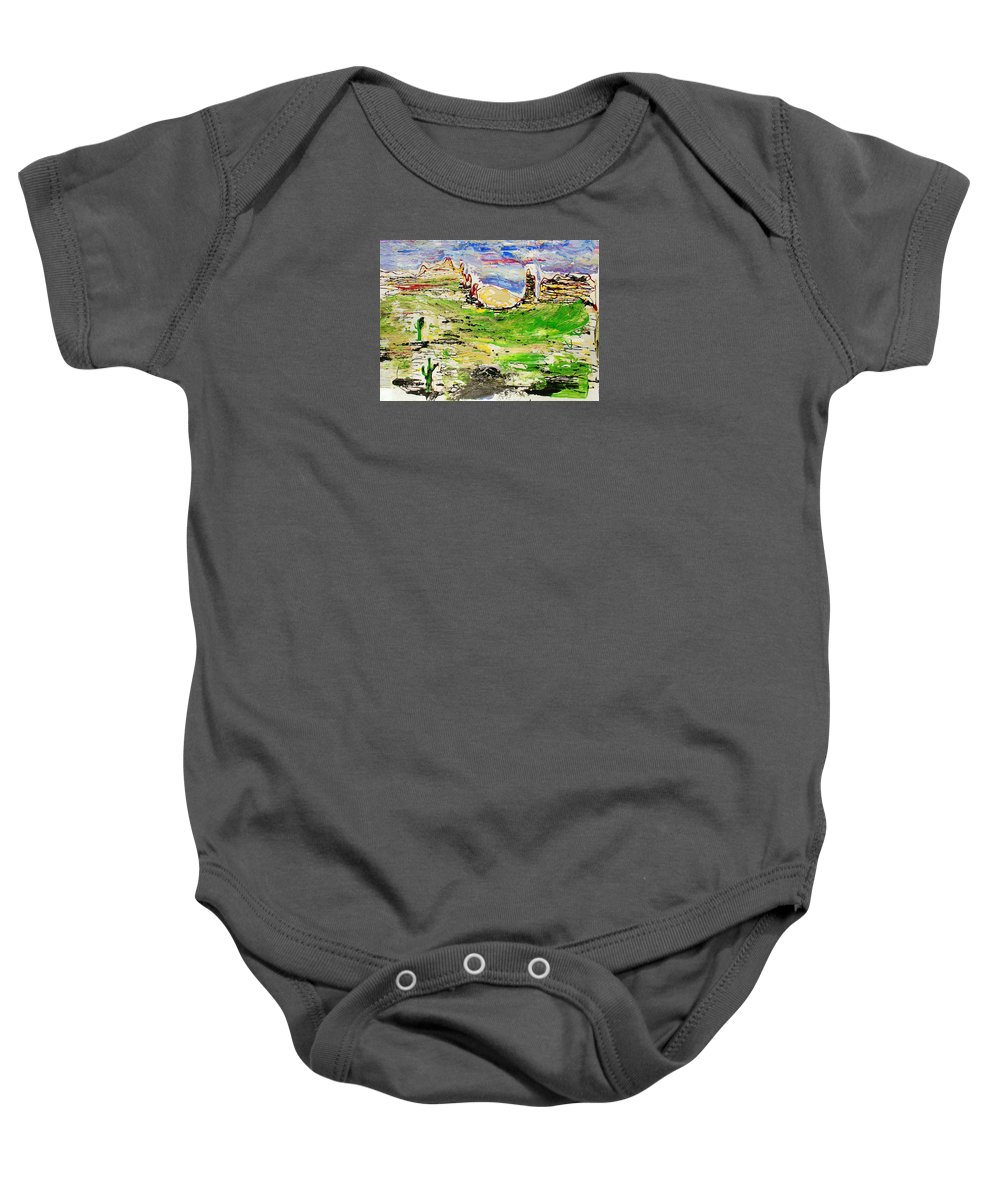 Impressionist Painting Baby Onesie featuring the painting Arizona Skies by J R Seymour